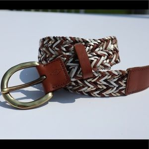 Fossil multi colored braided leather belt